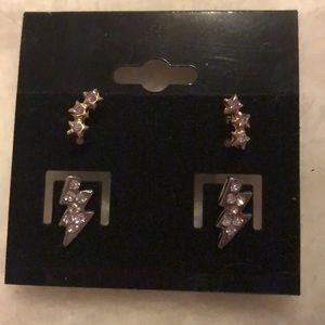 Night Sky post earring set NEW